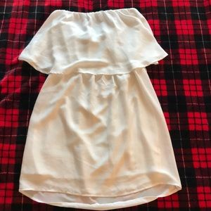 White Mini Dress / Shirt Size M